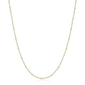 Halskette Basic Panzerkette Kugeln Trend Fein 925 Silber Elli Gold - 001