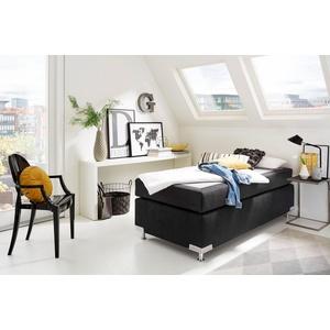Westfalia Schlafkomfort Boxspringbett Holland, ohne Kopfteil, frei im Raum stellbar schwarz 92 cm x 201 cm