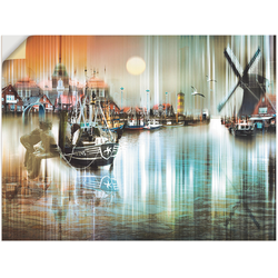 Wandbild »Neuharlingersiel Nordsee Collage 04«, Bilder, 41426642-0 grün 40x30 cm grün