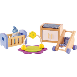 Hape Puppenmöbel Babyzimmer Puppenhausmöbel