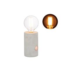 relaxdays Schreibtischlampe Betonlampe Tischlampe mit Touch Funktion