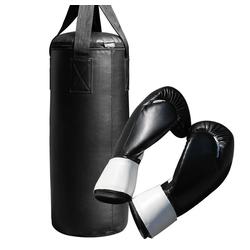 Mucola Boxsack Boxsack 60CM gefüllt 9KG + Handschuhe Sandsack Boxen Rocky Training Punch Jab Profi Handschuhe punching bag Boxbirne Halterung Boxset