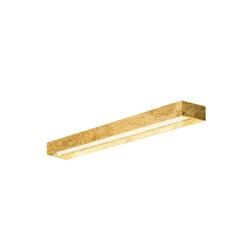 Zero LED Wand- und Deckenleuchte Modell 1 goldblatt