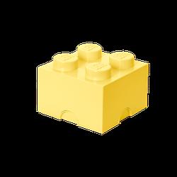 LEGO® Aufbewahrungsstein mit 4 Noppen in Coolgelb
