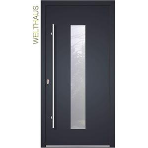 Haustür Welthaus WH75 Standardtür Aluminium mit Kunststoff LA 20 Tür (1000x2000 DIN links)