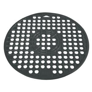 Gies giesline Spülbeckeneinlage rund, dunkelgrau, Ablussbeckeneinlage geeignet für Spülmaschinen, Durchmesser: ca. 31,2 cm