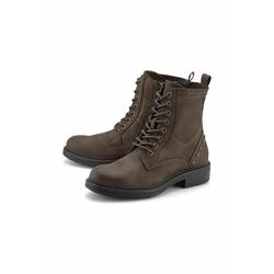 Schnür-Boots Schnür-Boots COX mittelbraun
