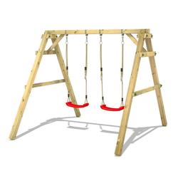 Wickey Doppelschaukel Schaukelgestell Sky Dancer Prime - Schaukel, Schaukelgerüst, Kinderschaukel, Holzschaukel rot