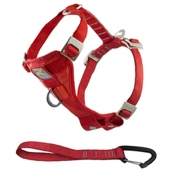 Kurgo Autogeschirr Tru-Fit-Smart Harness inkl. Gurtanschluss rot, Größe: XL