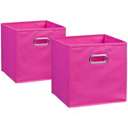 Zeller Present Aufbewahrungsbox, (Set, 2 St.), 28 x cm rosa Kleideraufbewahrung Aufbewahrung Ordnung Wohnaccessoires Aufbewahrungsbox