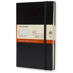 Notizbuch Japanisches Album Large A5 165g/qm Hardcover schwarz