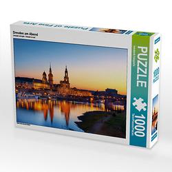 Dresden am Abend Lege-Größe 64 x 48 cm Foto-Puzzle Bild von Stefan Becker Puzzle