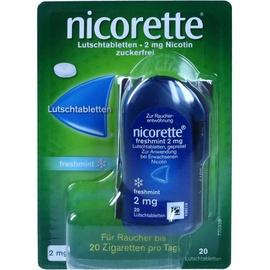 Nicorette Freshmint 2 mg Lutschtabletten 20 St.