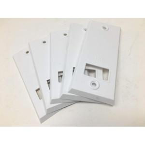 5X 105 Lochab Rolladen Gurtwickler Abdeckplatte Blende Abdeckung Kunststoff weiß