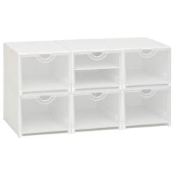 Schuhboxen, 4er- oder 6er Set weiß Körbe Boxen Regal- Ordnungssysteme Küche Ordnung Aufbewahrungssysteme