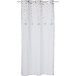 Vorhang mit Sternen, weiß/grau, 105 x 240 cm