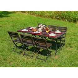 6tlg. Tischgruppe Gartenmöbel Gartentisch Stuhl Garten Sessel Gartensessel Tisch