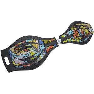 Schildkröt Unisex – Erwachsene Waveboard Good Vibes, Design: Graffiti, leichtes und wendiges Casterboard, großes Deck mit Anti-Rutsch Noppen, 510801, One Size, Waveboard Good Vibes Graffiti, 510801