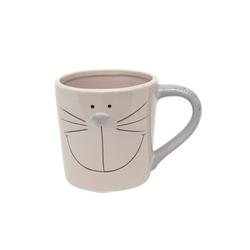 Dekohelden24 Tasse Keramik Tasse / Pott / Topf mit Henkel, als Katze,, Keramik