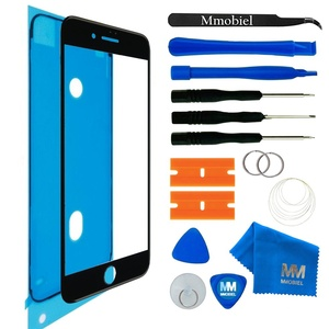 MMOBIEL Front Glas Reparatur Set kompatibel mit iPhone SE 2020/8 Series 4.7 inch (Space Gray/Schwarz) Display mit Werkzeug-Set