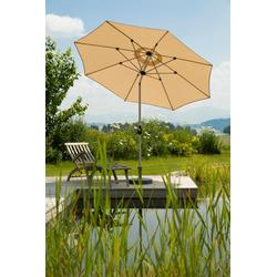 Schneider Schirme Sonnenschirm Venedig, ohne Schirmständer beige Sonnenschirme -segel Gartenmöbel Gartendeko