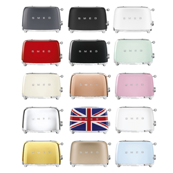 SMEG TSF01 Toaster Retro Design 50s 950W 6 Stufen Automatikprogramm alle Farben, Farbe: Rot
