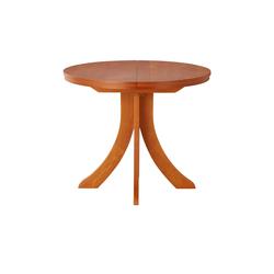 Säulentisch ausziehbar  T52 ¦ braun Ø: 90