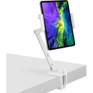 Desktop Tablet / Smartphone Betttisch mit 360°drehbarem Clip, LinQ HD3279 – Weiß