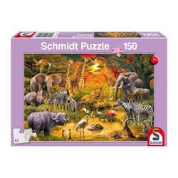 Schmidt Spiele Puzzle Safari Tiere in Afrika, 150 Puzzleteile
