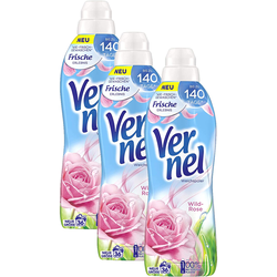 Vernel Weichspülerkonzentrat 3er Pack Wild Rose 3x36 Waschladungen Weichspüler