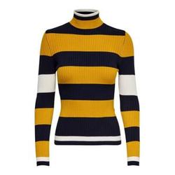 ONLY Rib Knitted Pullover Damen Blau Female XS