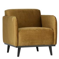 Sessel in Gelb Samt Retro Design