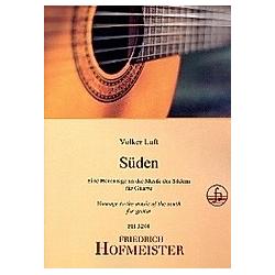 Süden  für Gitarre. Volker Luft  - Buch