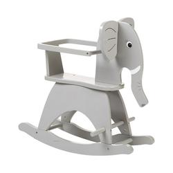 CHILDHOME Schaukeltier Schaukelelefant inkl. Sicherheitsbügel, grau