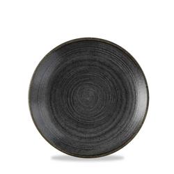 12 x Teller rund 16,5cm STONECAST RAW Black