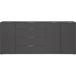 Maja Möbel Kommode TREND, mit Melaminharzbeschichtung grau 225,5 cm x 98,7 cm