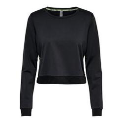 ONLY Kurzes Sweatshirt Damen Schwarz Female L
