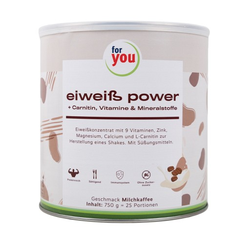 FOR YOU eiweiß power Milchkaffee Pulver 750 g
