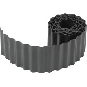 Meister Flexible Rasen- und Beeteinfassung - anthrazit - 9 m Länge & 15 cm Höhe - Aus schlagfestem Kunststoff - Einfach zu montieren - Zuverlässige Wurzelsperre / Rasenkante / Beetbegrenzung / 9957130