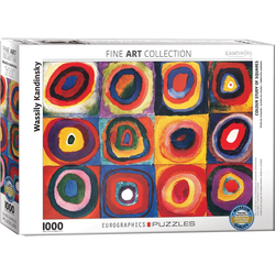 empireposter Puzzle Wassily Kandinsky - Farbstudie Quadrate - 1000 Teile Puzzle Format 68x48 cm., 1000 Puzzleteile