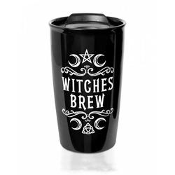 Horror-Shop Geschirr-Set Witches Brew Gothic Reise-Kaffeebecher als Geschen, Kunststoff / Edelstahl