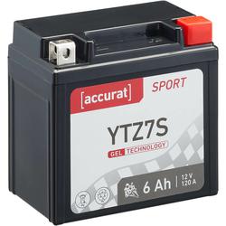 Accurat Sport GEL YTZ7S Motorradbatterie 6Ah 12V