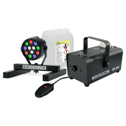 Showlite SN-400 Nebelmaschine + SPS-121 RGBW Spot + 5 l Fluid Set
