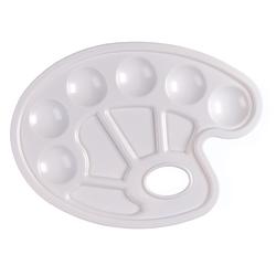 Multi Farb Misch Palette weiß 10 Mulden ovale Farbpalette Mischpalette