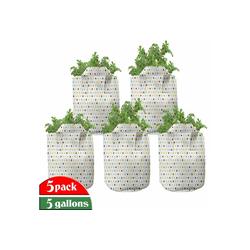 Abakuhaus Pflanzkübel hochleistungsfähig Stofftöpfe mit Griffen für Pflanzen, Retro Tupfen Runden Retro 28 cm x 28 cm