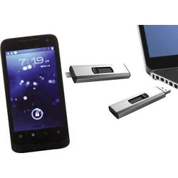 Xlyne Dual OTG USB-Zusatzspeicher Smartphone/Tablet Silber 32GB USB 2.0, Micro USB 2.0