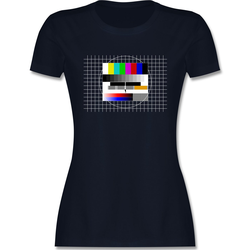 Shirtracer T-Shirt Fernseher TV Testbild - Karneval & Fasching - Damen Premium T-Shirt - T-Shirts fernseher tshirt L