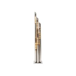 KARE Stehlampe Stehleuchte Pipe Chrom LED 175cm