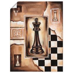 Artland Wandbild Schach König, Schach (1 Stück) 90 cm x 120 cm