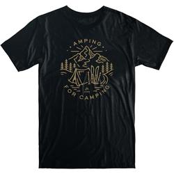Tshirt JONES - Tee Amping For Camping Black (BK)